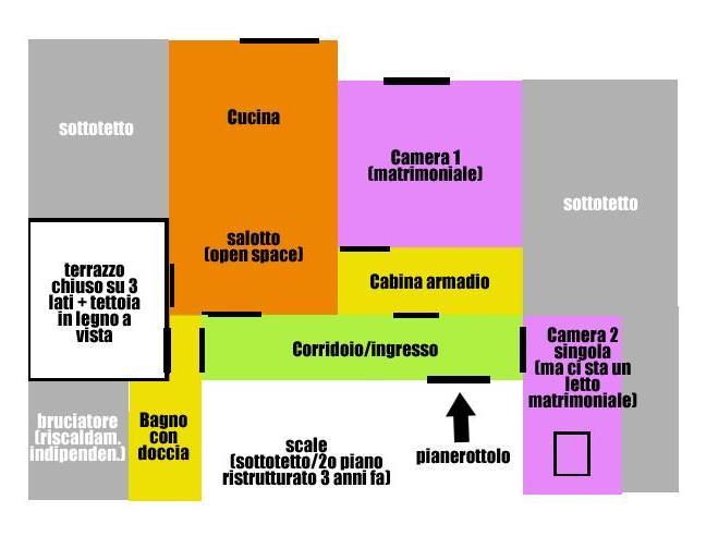 Anteprima foto 1 - Affitto Stanza Singola in Mansarda da Privato a Dronero (Cuneo)