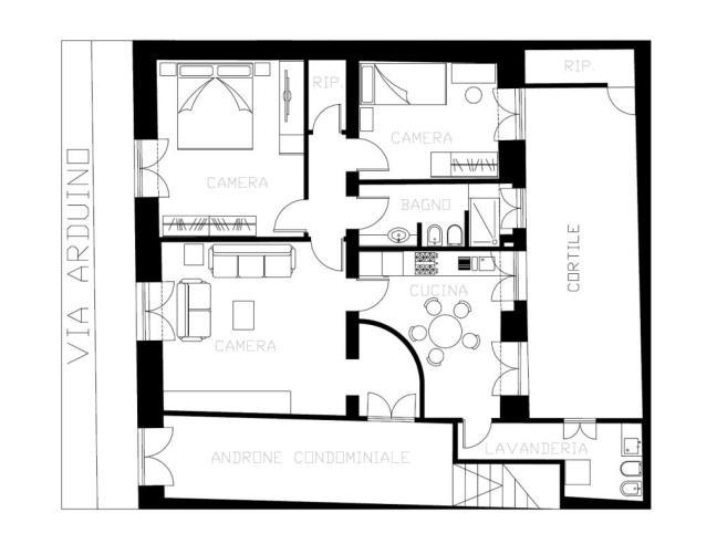 Zona ognina picanello appartamento al piano terra for Costo della costruzione di una casa con 3 camere da letto