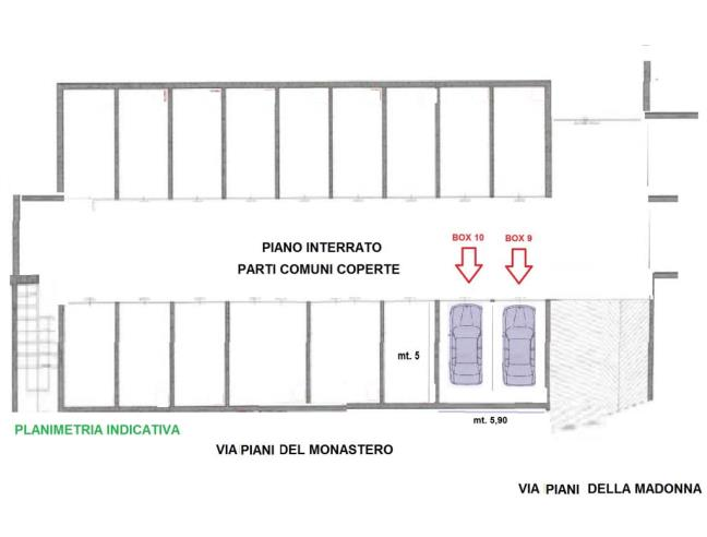 Annuncio privato millesimo occasione nr 2 box auto for Costruendo un garage per 2 auto