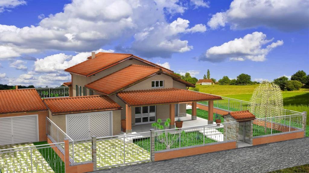 Vialla singola piano unico vendita villa da costruttore for Nuove case da 1 piano