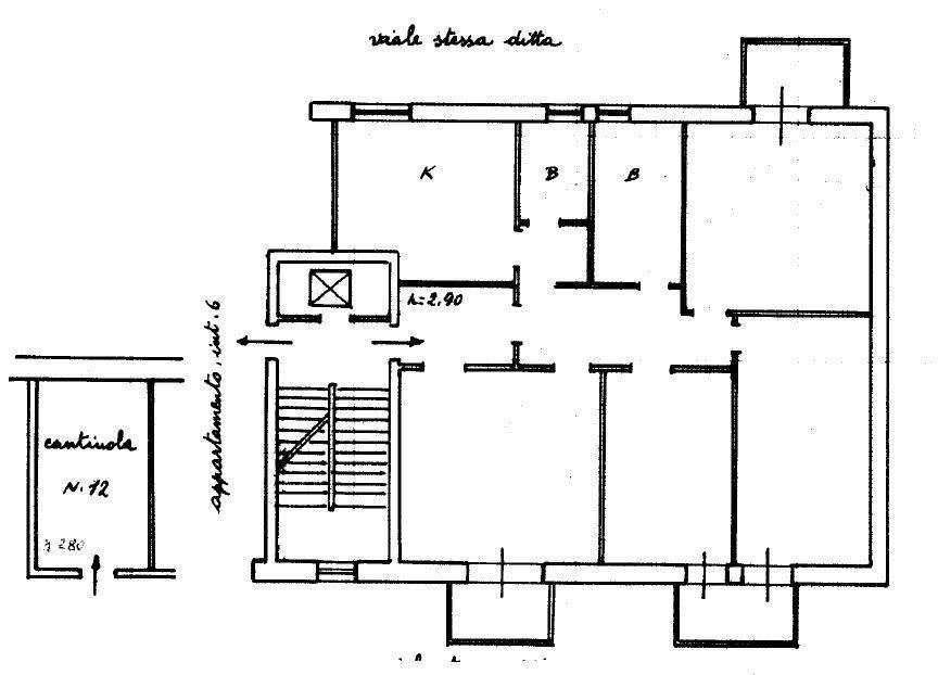 Appartamento secondo piano in via cavallino 125 a for Nuove case da 1 piano