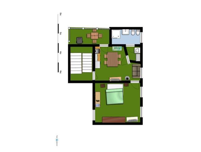 casa di 2 piani con attico piano terra abitabile e