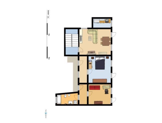 Casa di 2 piani con attico piano terra abitabile e for Piani casa ranch con cantina